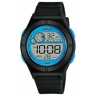 Lorus Naisten digitaalinen musta silikonihihna Sininen Tiedot R2361NX9 Watch