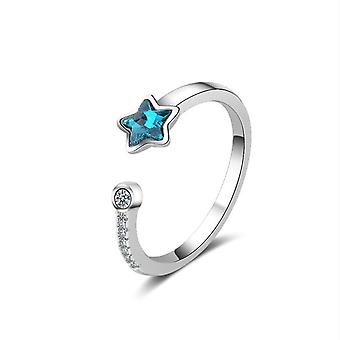 3PCS Copper Woman Fashion Jewelry Starfish Ring Opening Size Adjustable Ring