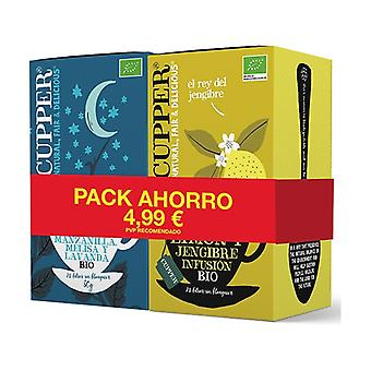 Bipack savings: snore and peace and lemon and ginger 20 infusion bags