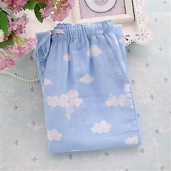 Mens/women Plaid Trousers Casual Sleep Bottoms Sleepwear Pyjama Cotton Pants