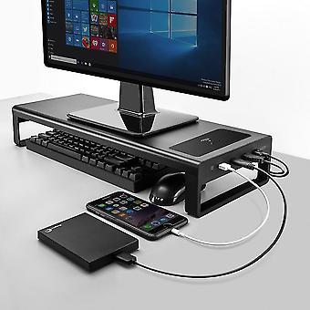 צג טבלת בסיס מחשב מעמד עם 4 רכזת USB 3.0