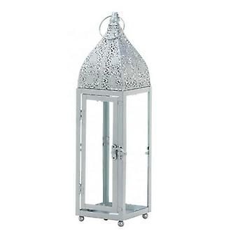 Gallery of Light Silver Moroccan-Style Candle Lantern - 15 inches, Pack of 1