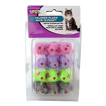 Spotové kožešinové myši Cat Toys - 12 Balení