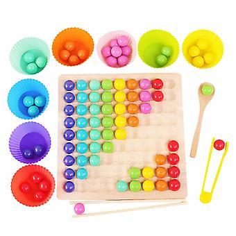צעצועים לילדים להגדיר צעצועי עץ ידיים אימון המוח קליפ חרוזים פאזל מתמטיקה משחק תינוק מוקדם