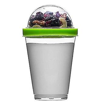 Household storage containers polysthyrene plastic yoghurt cup with storage  green