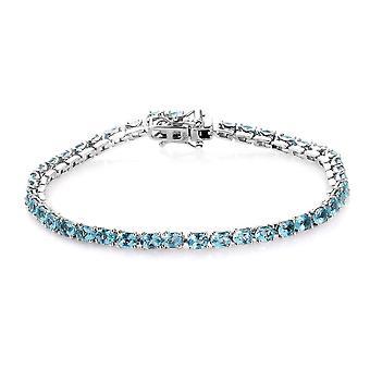 TJC Apatite Tennis Armband in Zilveren Cadeau voor Vrouw / Vriendin / Moeder 8ct