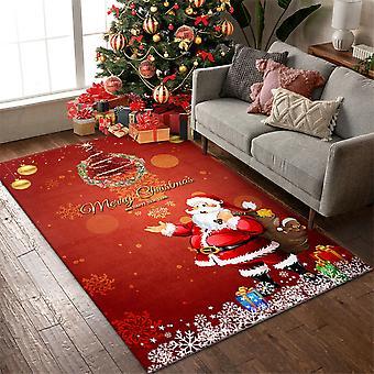 Homemiyn Kerstdecoratie Vloerkleed Antislip Zacht Pluche Tapijt Voor Woonkamer Slaapkamer
