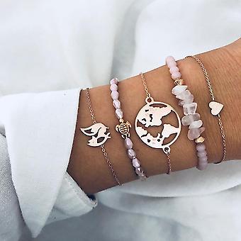 Armband Armreif Retro Zirkon Armbänder Set Schmuck für Frauen