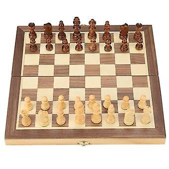 Tablero de ajedrez magnético de madera plegable