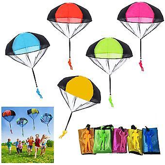 10 Stück Fallschirm Spielzeug, Handwurf Fallschirm Spielzeug Set, Outdoor Spielzeug für Kinder, Geschenk an Kinder (zufällige Farbe)