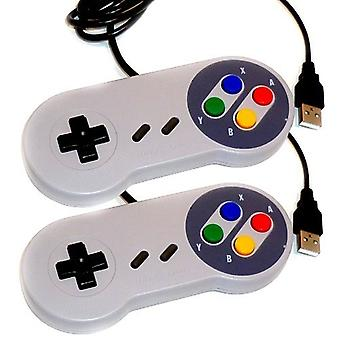 2 x Kabalo vervanging USB-Gamepad Joypad Gaming Controller Super Nintendo SNES Game Console Design