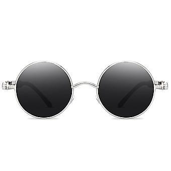 Steampunk slnečné okuliare Vintage Retro Muži Ženy krúžia Cyberpunk okuliare