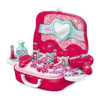 Make-up box set speelgoed kinderkleedtafel prinses tote box speelgoed meisje tote bag kinderen favoriete kerstcadeaus