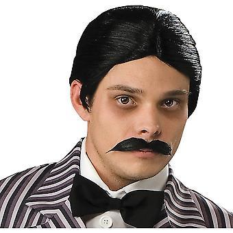 Zenei dráma Paróka Gomez Addams szintetikus haj parókák