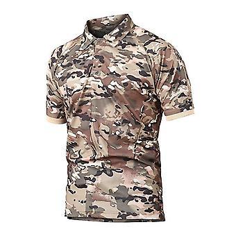 Mens Quick Dry Camo Tactical T-shirt Outdoor Climbing Army Training Short