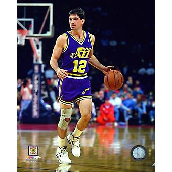 John Stockton 1992 Action Photo Print