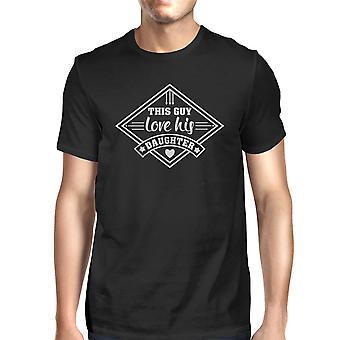 Этот парень любить его дочь Мужская Черная футболка милый подарок для новых папа