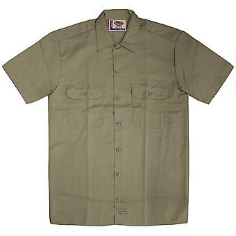 Dickies 1574 Short Sleeve Work Shirt Khaki
