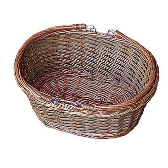 Balanço de vime oval lidar com cesta de compras