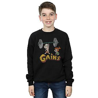 The Flintstones Boys Bam Bam Gains Distressed Sweatshirt