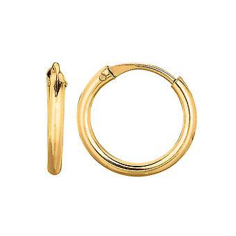 14K Gold um endlose Creolen, 10mm
