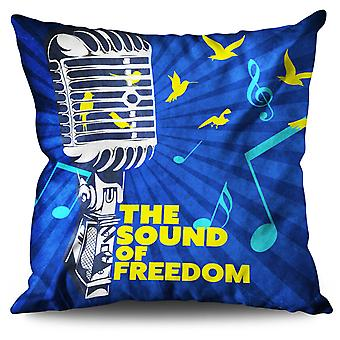 Freedom Saying Linen Cushion 30cm x 30cm | Wellcoda