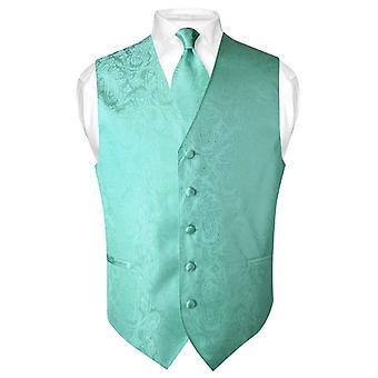 Paisley Design sukni kamizelka męska & krawat szyi krawat zestaw