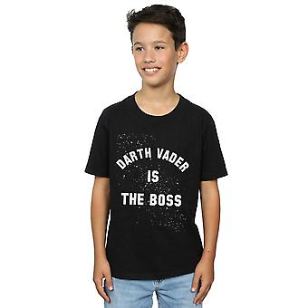 Star Wars Boys Darth Vader The Boss T-Shirt
