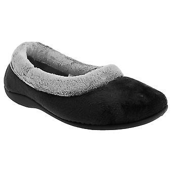 Sleepers Womens/Ladies Julia Memory Foam Collar Slippers
