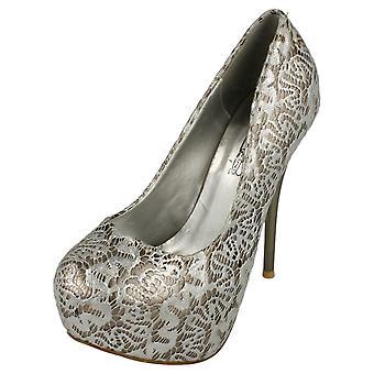 Дамы пятно на высоком каблуке крытые платформы суд обуви с оверлея дизайн