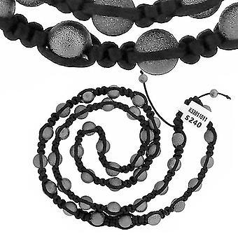 Premium PAVÉ BALL necklace - black / grey