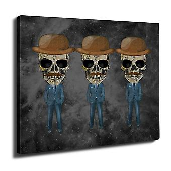 Dead Skeleton Suit Wall Art Canvas 40cm x 30cm | Wellcoda