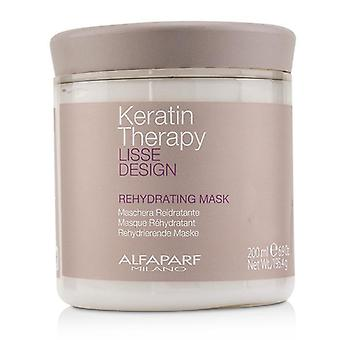 Alfaparf Lisse Design Keratin Therapy Rehydrating Mask - 200ml/6.9oz