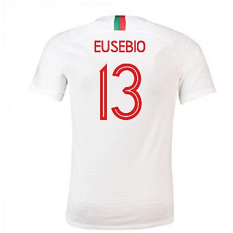 2018-2019 Portugal Away Nike Football Shirt (Eusebio 13)