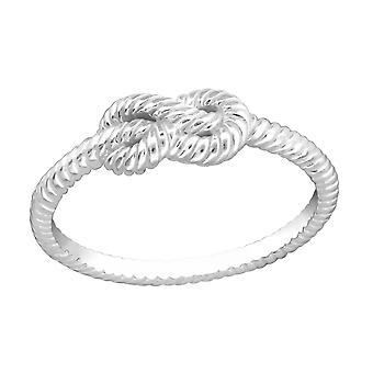Knoop - 925 Sterling Zilver platte ringen - W33829X