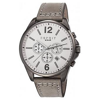 ESPRIT mens watch armbandsur Tallac läder Chrono ES106921004