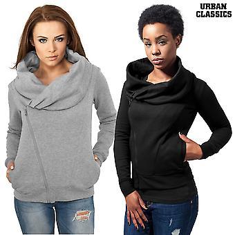 Urban Classics Ladies Zip Hoodie Asymetric