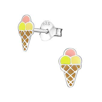 Ice-cream - 925 Sterling Silver Colourful Ear Studs - W18698x