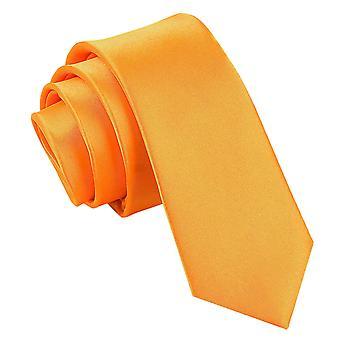 Fluoresoiva oranssi Plain Satiini laiha solmio
