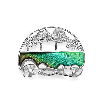 Sterling Silver Pat Cheney Design spilla - smalto di vetro caldo