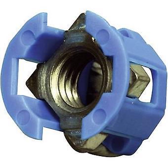 PB kiinnittimen 382-2005 Cage Lok häkki pähkinä Blue (Ø x K) 12,3 x 12,8 mm