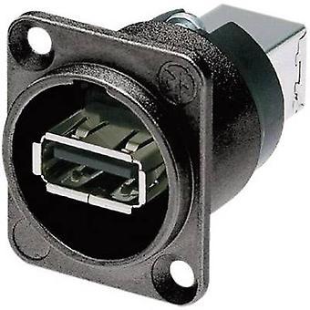 Neutrik NAUSB-W-B reversível USB-colocando 2,0 soquete, built-na postura