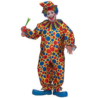 Clown Circus Joker Dotted Spotty Funny Birthday Party Mens Costume Plus 1X