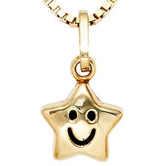 Anheng halskjede stjernen i gult gull 333 SAMMY barn smykker