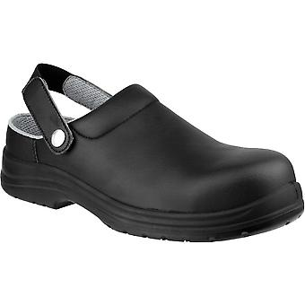 Amblers Safety Mens FS514 Clog Style Waterproof Safety Shoes Black