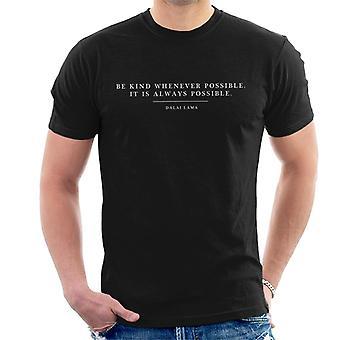 Ser sempre que possível Dalai Lama citar t-shirt dos homens