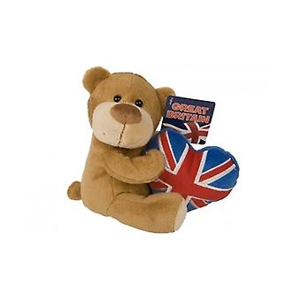 Union Jack Wear Beanie Bear With Union Jack Heart
