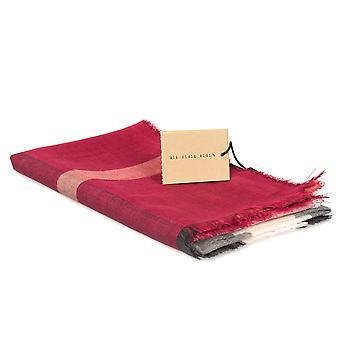 Sciarpa Burberry Check leggera lana e seta | Rosso cremisi