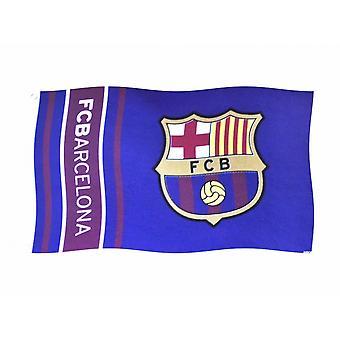 FC Barcelona Wordmark Stripes Flag