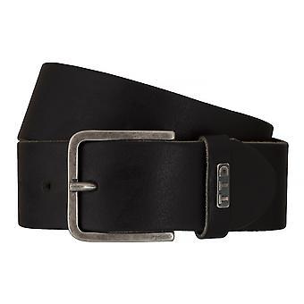 Jeans de TOM TAILOR correa cuero cinturones hombre cinturones cinturón negro 7601